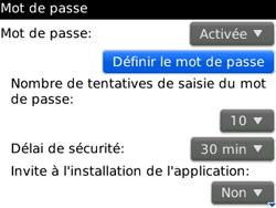 BlackBerry curve 3G - Sécuriser votre mobile - Activer le code de verrouillage - Étape 7