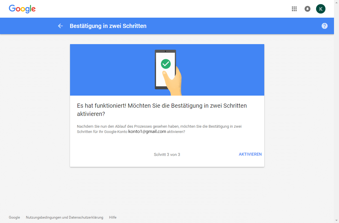 Samsung Galaxy S7 - Datenschutz und Sicherheit - Zwei-Faktor-Authentifizierung - 10 / 11