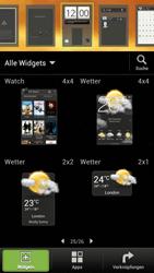 HTC One S - Startanleitung - Installieren von Widgets und Apps auf der Startseite - Schritt 6