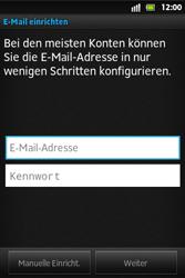 Sony Xperia Go - E-Mail - Konto einrichten - Schritt 5