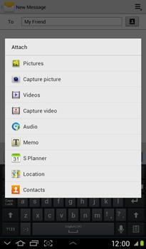 Samsung P3100 Galaxy Tab 2 7-0 - MMS - Sending pictures - Step 9