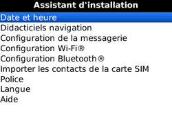 BlackBerry 8520 - Premiers pas - Créer un compte - Étape 19