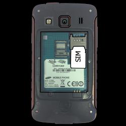 Samsung S5690 Galaxy Xcover - SIM-Karte - Einlegen - Schritt 3