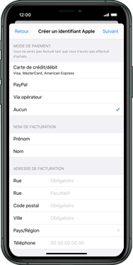 Apple iPhone 11 Pro - Applications - Configuration de votre store d
