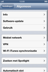 Apple iPhone 4 (iOS 6) - internet - data uitzetten - stap 4