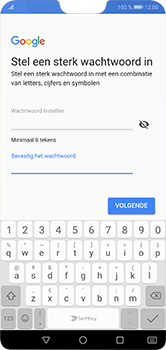 Huawei P20 lite - apps - account instellen - stap 12