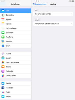 Apple iPad 9.7 (Model A1823) - E-mail - Handmatig instellen - Stap 7