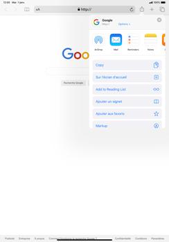 Apple iPad Pro 11 (2018) - iPadOS 13 - Internet et roaming de données - Navigation sur Internet - Étape 6