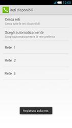 Alcatel One Touch Idol S - Rete - Selezione manuale della rete - Fase 13