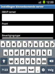 Samsung S5570 Galaxy Mini - E-mail - e-mail instellen: IMAP (aanbevolen) - Stap 9