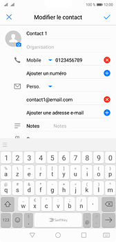Huawei P20 - Contact, Appels, SMS/MMS - Ajouter un contact - Étape 9