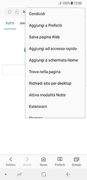 Samsung Galaxy S8 - Android Oreo - Internet e roaming dati - Uso di Internet - Fase 8