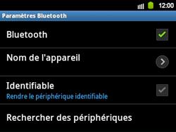 Samsung B5510 Galaxy TXT - Bluetooth - connexion Bluetooth - Étape 9