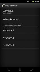Sony Xperia T - Netzwerk - Manuelle Netzwerkwahl - Schritt 8