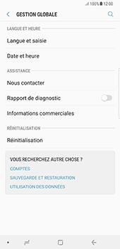 Samsung Galaxy Note 8 - Aller plus loin - Restaurer les paramètres d'usines - Étape 5