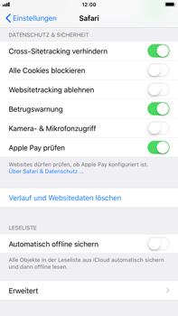 Apple iPhone 8 Plus - iOS 11 - Neue Datenschutz- und Sicherheitsfunktionen für Safari aktivieren - 0 / 0