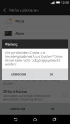 HTC One M8 - Gerät - Zurücksetzen auf die Werkseinstellungen - Schritt 7