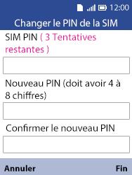Alcatel 3088X - Sécuriser votre mobile - Personnaliser le code PIN de votre carte SIM - Étape 9