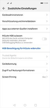 Huawei Nova 5T - Startanleitung - So aktivieren Sie eine SIM-PIN - Schritt 5