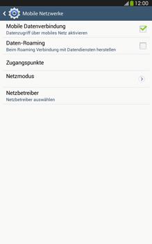 Samsung Galaxy Tab 3 8-0 LTE - Internet und Datenroaming - Prüfen, ob Datenkonnektivität aktiviert ist - Schritt 7