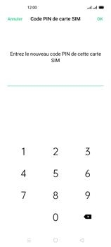 Oppo Reno 4 - Sécuriser votre mobile - Personnaliser le code PIN de votre carte SIM - Étape 11
