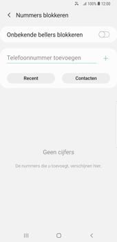Samsung galaxy-note-9-sm-n960f-android-pie - Beveiliging en ouderlijk toezicht - Nummer blokkeren - Stap 8