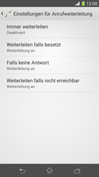 Sony Xperia Z1 Compact - Anrufe - Rufumleitungen setzen und löschen - 6 / 9