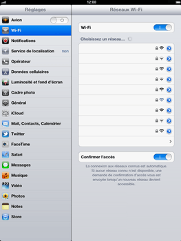 Apple iPad 4th generation - Wifi - configuration manuelle - Étape 4