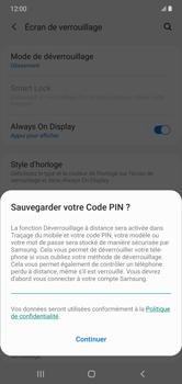 Samsung Galaxy Note 10+ - Sécuriser votre mobile - Activer le code de verrouillage - Étape 12