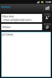 Sony ST27i Xperia Go - E-mail - envoyer un e-mail - Étape 8