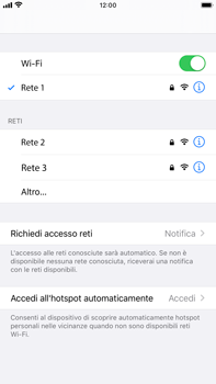 Apple iPhone 7 Plus - iOS 13 - WiFi - Configurazione WiFi - Fase 7