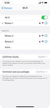 Apple iPhone 11 - Wifi - configuration manuelle - Étape 6