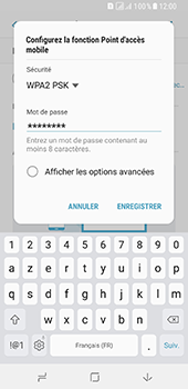 Samsung Galaxy A8 - Internet et connexion - Partager votre connexion en Wi-Fi - Étape 10