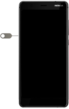 Nokia 5.1 - Toestel - simkaart plaatsen - Stap 7