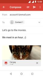 Nokia 1 - E-mail - Sending emails - Step 15