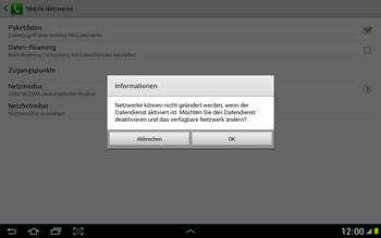 Samsung N8000 Galaxy Note 10-1 - Netzwerk - Netzwerkeinstellungen ändern - Schritt 8