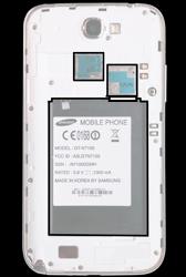 Samsung N7100 Galaxy Note 2 - SIM-Karte - Einlegen - Schritt 4