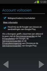 Samsung S6810P Galaxy Fame - apps - account instellen - stap 19