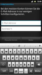 Sony Xperia S - E-Mail - Konto einrichten - 1 / 1