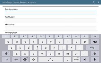 Samsung T535 Galaxy Tab 4 10-1 - E-mail - Account instellen (IMAP met SMTP-verificatie) - Stap 8