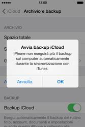 Apple iPhone 4S iOS 7 - Applicazioni - Configurazione del servizio Apple iCloud - Fase 13