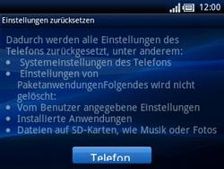 Sony Ericsson Xperia X10 Mini Pro - Fehlerbehebung - Handy zurücksetzen - Schritt 8