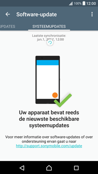 Sony Xperia XA Ultra (F3211) - software - update installeren zonder pc - stap 6