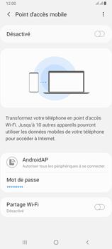 Samsung Galaxy A80 - Internet et connexion - Partager votre connexion en Wi-Fi - Étape 8