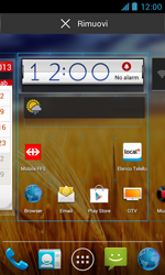 ZTE Blade III - Operazioni iniziali - Installazione di widget e applicazioni nella schermata iniziale - Fase 5