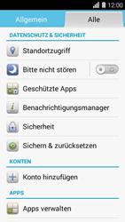 Huawei Ascend Y550 - Fehlerbehebung - Handy zurücksetzen - Schritt 5