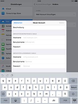 Apple iPad Mini 4 - E-Mail - Konto einrichten - 12 / 32