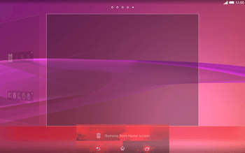 Sony Xperia Tablet Z2 LTE - Getting started - Installing widgets and applications on your start screen - Step 10