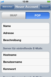 Apple iPhone 3GS - E-Mail - Konto einrichten - Schritt 9