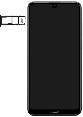 Huawei Y7 (2019) - Appareil - Insérer une carte SIM - Étape 4
